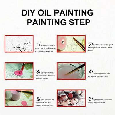 Frameless DIY Oil Painting Artwork Canvas Painting Unique Gift 40*50cm  1N