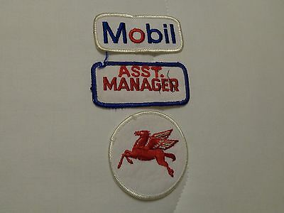 Vintage  Patches    Gas Station     (Mobil)