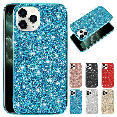 For iPhone XS Max/XS/XR/6 7 8 Plus Bling Glitter Shockproof Hard Back Case Cover