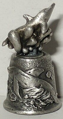 Pewter Ripley's Aquarium Myrtle Beach SC Dolphin Thimble Collectable New In Box