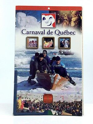 2001 Proof 50 Fifty Cent RCM Festival Canada Bonhomme Carnaval Quebec Coin H082z