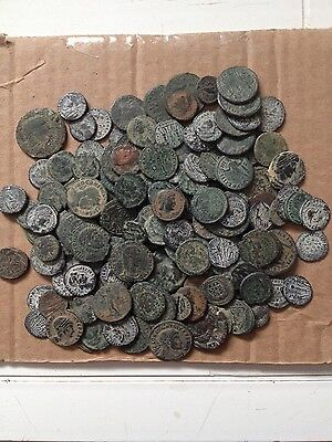 High quality Desert uncleaned Roman coins from Israel , Each Bid is per coin !