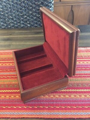 Vintage REED & BARTON Velvet Lined Music Wooden Jewelry Box