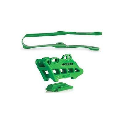 Acerbis Chain Guide And Slider Kit To Fit Kawasaki KXF450 2016-17 - GREEN