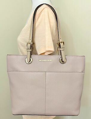 199d42ef1ad6 MICHAEL KORS VOYAGER Textured Crossgrain Leather Tote- Soft Pink ...