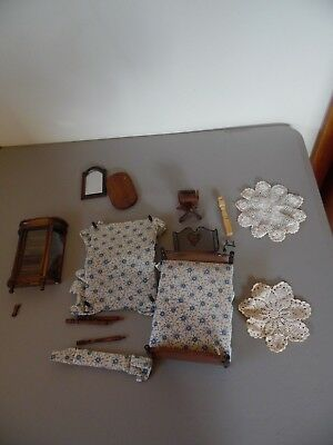 Large Lot Vintage Dollhouse Miniature Furniture Parts For Repair