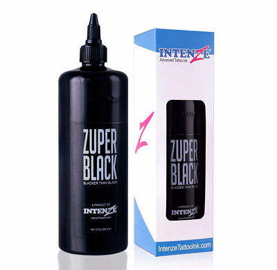 large bottle ZUPER BLACK Tattoo Ink 12oz (360ml) intenz tatto ink Proffessional