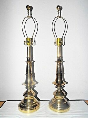 "Lamps A Pair Of Vintage 31""h 3-Way Beautiful Fancy Ornate Brass Table Lamps"