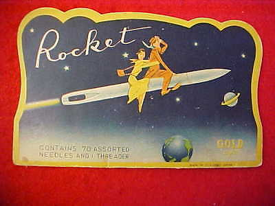 Rocket Gold Eye Needle Book - Made In Occupied Japan