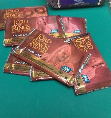 Lord Of The Rings Movie Cards Two Towers Edition 14 Pks sealed NEW 2002