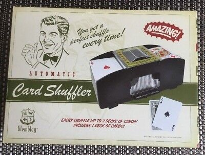 Wembley Automatic Card Shuffler in box Shuffle up to 2 decks w/ 1 Deck included
