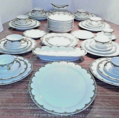 Limoges Elite~ 1900-1914 ~  8 Place Settings~ Plus Bowls ~Serving Dishes~51 all