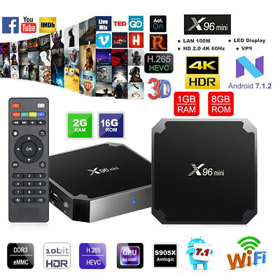 X96 Mini Amlogic S905W Android 7.1.2 Smart TV Box 4K UHD 3D Android 7.1 8GB/16GB
