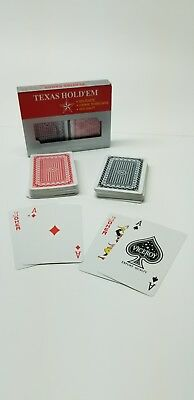 100% Plastic playing cards High quality Standard Poker sz 2 Decks Free Shipping!