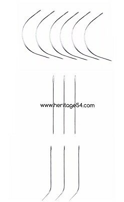 C I J Curved Straight Needles Hair Weaving Sewing Hair Accessories 2pcs