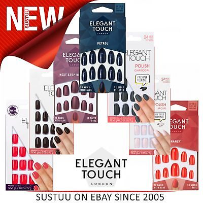 Elegant Touch Faux Ongles │ Adhésif Tablettes │ Preety │ Large Poli Couleurs