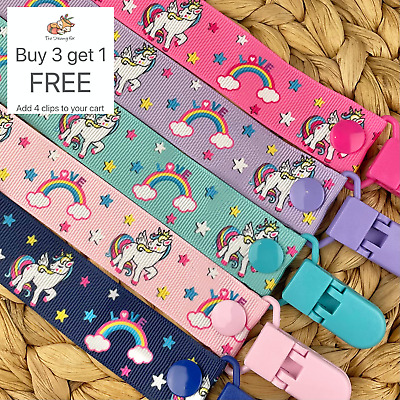 Dummy Clip pacifier chain dummie binky baby gift clips soother holder unicorn