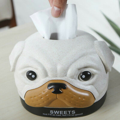 Creative Cartoon Dog Tissue Box Car Home Tissue Towel Napkin Tissue Holder DNG