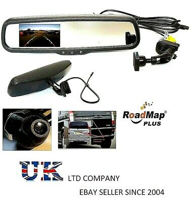 mercedes vito rear reverse parking camera kit rear view mirror 4.3 inch monitor