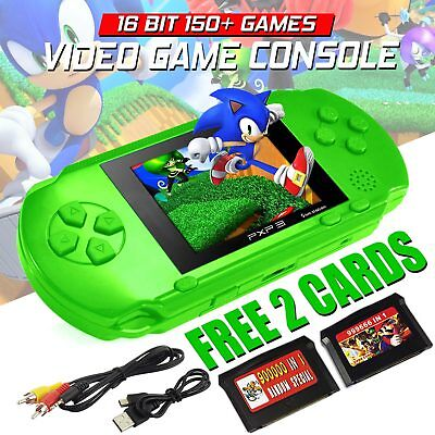 PXP3 Portable Handheld Video Game Console 16 Bit Built In 150+Game Kids Player