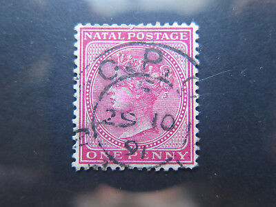 NATAL 1 CENT POSTAGE STAMP in EXCELLENT COLLECTABLE CONDITION c1890s