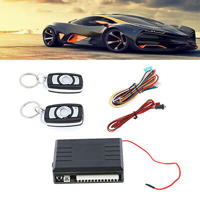Universal LED Car Door Locking Keyless Entry System Remote Control Central Kit