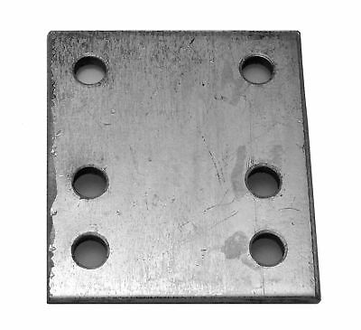 Maypole 232 4 inch 6 Hole Drop Plate Zinc Plated