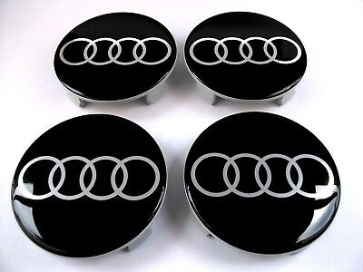 AUDI 4 pcs 75mm Wheel Centre Caps Silicone Hub Rim Covers Silicone Logo