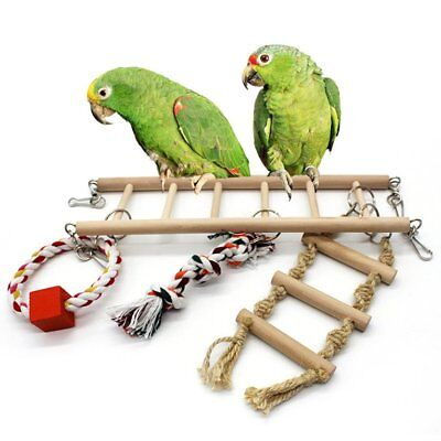 BirdFun Toy Hanging Ladr Bridge Parrot'S Cage Stand Bar Pet Toy Accessories F1