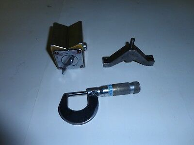 Enco Magnetic Block Base Toolmaker and Machinists Tools Micrometer
