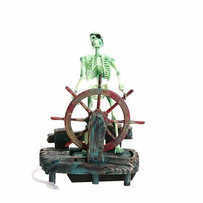 Pirate Captain Skeleton Action Figure Fish Tank Ornament Aquarium Decoration