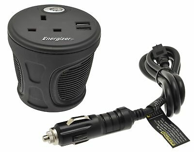 Energizer 50600B Cup Holder Power Inverter, 120 W