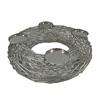 Forest Wreath 4 Candle Holder Culinary Concepts Display Nest Candlelight