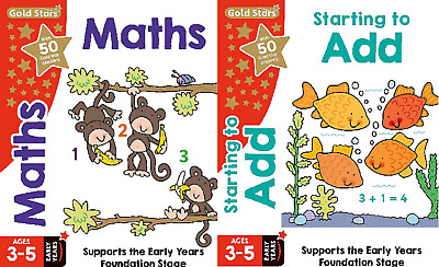Maths & Addition - Gold Stars Pre-School Early Years Learning - 2 Book Set