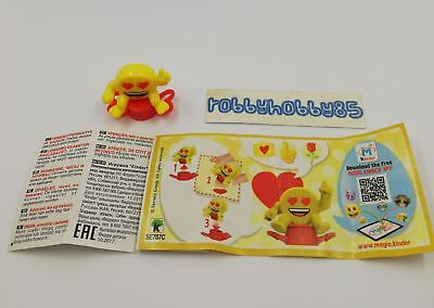 Se787 C Emojoy - Timbro + Bpz Kinder Merendero Italia 2018 Emoji Collection