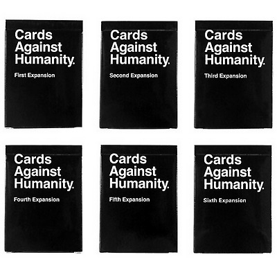 Cards Against Humanity Expansion Pack 1 2 3 4 5 and 6 *UK Seller*UK VERSION*48hr