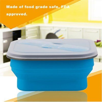 Foldable XF9112-L1 Safety Silicone Lunch Box Children Picnic Food Y3