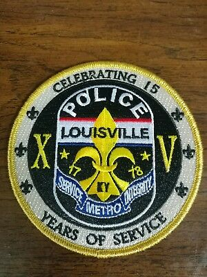 louisville metro police 15 year patch