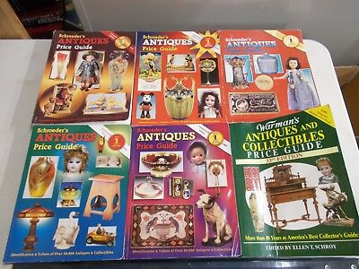 6 Schroeder's Warman's Antique Price Guides