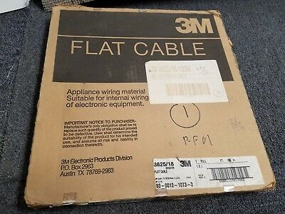 3M 3625/18 Ribbon Cable, Flat Conductor Flat, Grey, 18 Conductor, 28 AWG, 100 m