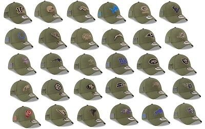 Mens NFL 2018 Salute to Service Flex Fit Hat (Several Teams and Sizes)
