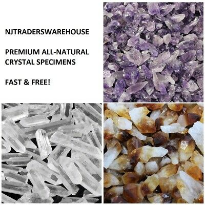 500 Carat Bulk Mixed Amethyst Citrine Clear Quartz Crystal Points