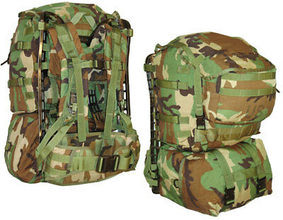 MOLLE RuckSack Woodland Camo with sustainment pouches BDU USGI genuine military