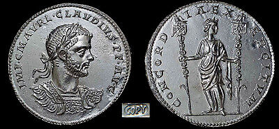 Claudius II (AD 268-270) Silver Medallion Coin (34mm, 14.2 gm.)