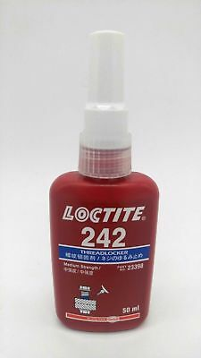 Loctite 242 MEDIUM STRENGTH THREADLOCK Blue Glue METAL ADHESIVE 50 ML