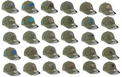 Mens NFL 2018 Salute to Service 9Twenty Strapback Hat (Several Team and Sizes)