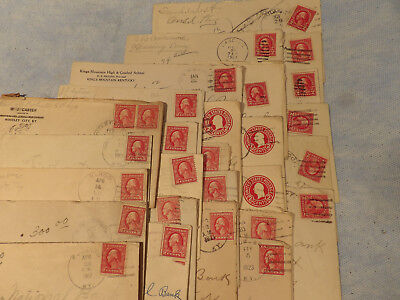 25 Vintage Envelopes With Stamps 1917 To 1923