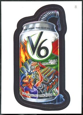 V6 #8 Wacky Packages Series 7 Topps 2010 Sticker Trade Card (C1770)