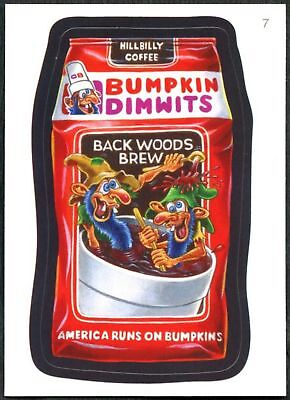 Bumpkin-Dimwits #7 Wacky Packages Series 7 Topps 2010 Sticker Trade Card (C1770)
