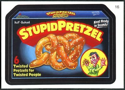 Stupid Pretzel #16 Wacky Packages Series 7 Topps 2010 Sticker Trade Card (C1770)